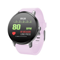 Casual Gray Fabric Smart Band, Blood Pressure Heart Rate Monitor Smart Watch, New Sports Waterproof Wristwatch for Women Men