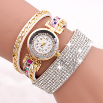Hot Sale Women Analog Quartz Watch, Fashion Casual Women Rhinestone Watch, Bracelet Watch Gift for Women