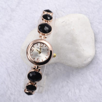 New Round Dial Quartz Women Watches, Fashion Vintage Stone Bracelet Wristwatch, Quartz Watch Gift for Women