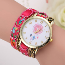 Large Strap Big Dial Women Watch, Native Ethnic Style Fashion Women Wristwatch, A Luxury Watch Gift for Women