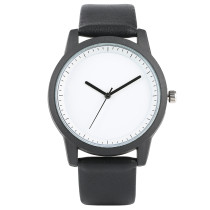 Minimalism Mens' Watch, Quartz Wristwatch, Unisex PU Leather Simple Style Watch Men Women