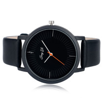 Simple Men's Watch, Round Dial Brief Leather Strap Watch for Men Women, Sport Quartz Wristwatch