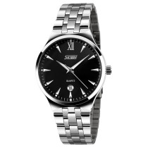 SKMEI Waterproof Date Display Quartz Stainless Steel Band Watch