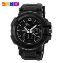 SKMEI Noctilucent Dual Time Waterproof LED Digital Sport Wrist Watch Gift