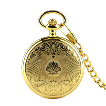 Elegant Fashion Black Pocket Watch for Men, New Alloy Mechanical Watch with Chain for Men Woman, Pocket Watches Best Gift for Women Men