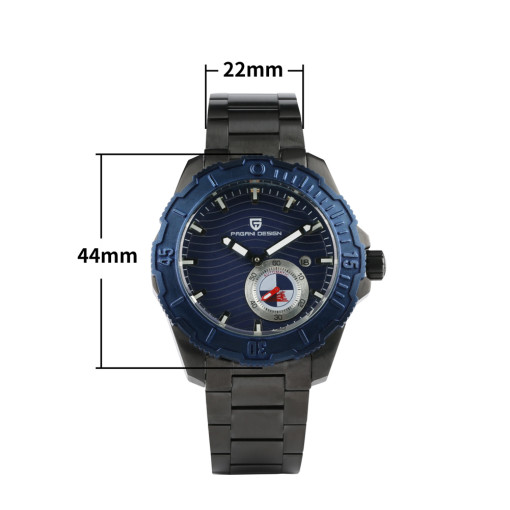 Classic Luxury Black Belt Black Face Watch for Men, Stainless Steel Strap Watch for Boy, Quartz Wristwatches for Teenagers