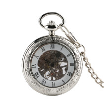 Vintage Noble Pocket Watch for Men's, Classic Design Pocket Watch for Boy, Chinese Style Mechanical Hand Wind Pocket Watch for Teenagers
