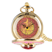 Golden Pocket Watch for Women, Stylish Pocket Watches for Girl, Birthday Gifts Chain Pocket Watch for Lady