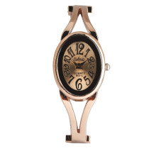 Quartz Bracelet Watch for Women, Exquisite Bracelet Watches for Girls With Hollow Strap, Rose Gold Color Wrist Watch for Ms.