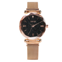 Women's Kevin Brand Quartz Watch, Angular Dial Gold Bracelet Watch for Lady, Star Sparkling Bracelet Watches for Girls