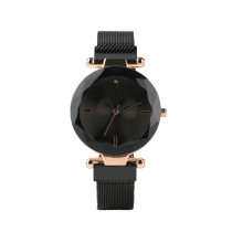 Women's Quartz Watch, Black Steel Band Bracelet Watch for Girls, Simple Fashion Bracelet Watches for Lady