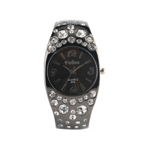 Black Quartz Bracelet Watch for Lady, Exquisite Bracelet Watches With Diamond Case for Girls, Exquisite Gift Wrist Watch for Women