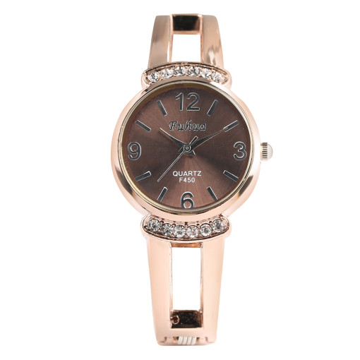 Drill Dial Watch for Women, Stainless Steel Watches for Girl, Matching Dress Wristwatch for Lady