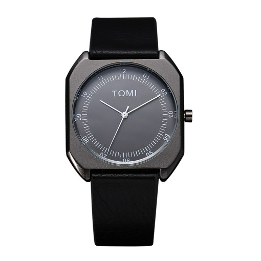 Leather Casual Watch for Man, TOMI Quartz Watches for Boy, New Fashion Wristwatch for Teenagers