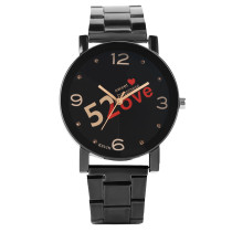 Quartz Watch for Men, Steel Band Leisure Quartz Watches for Boy, Dial Print Quartz Wrist Watch for Young Man