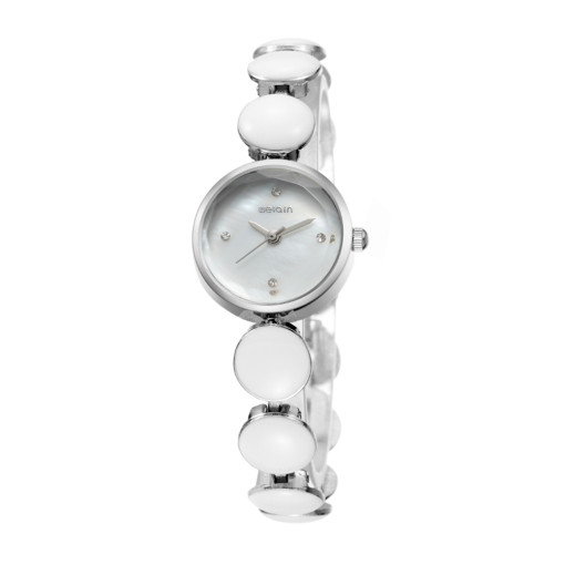Famous White Watch for Women, Quartz Glass Luxury Ceramic Band Wrist Watch, Wristband Gift for Female