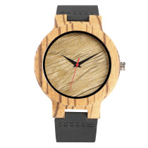 Quartz Movement Watch for Student, Natural Bamboo and Wooden Watch for Men and Women, Wood Grain Pattern Watch for Young People.