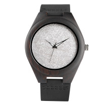 Quartz Watch for Men, Belt Leisure Quartz Watches for Boy, Wooden Shell Quartz Wrist Watch for Young People