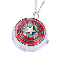 Men's Pocket Watch, Vintage Hot Movies Captain America Star Vintage Quartz Pocket Watch, Gifts for Men