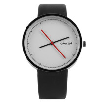 Women's Watch, White Dial and Black Band Wrist Quartz Watch, Gifts for Women