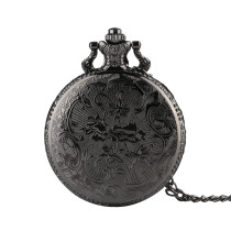Silver Fine Chain Men's Pocket Watch, Character Story Pattern Pocket Watch for Men, Quartz Movement Watch Pocketes for Boy