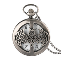 Men's Pocket Watch, Batman Design Hollow Carving Quartz Pocket Watch, Gifts for Men