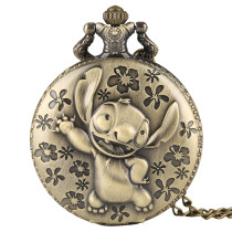 Ancient Bronze Men's Pocket Watch, Old Movie Seam Pocket Watch for Men, Quartz Pendant Lamp Children Gifts Pocket Watches for Boy