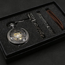 Men's Pocket Watch, Vintage Classic Mens Hand Winding Mechanical Pocket Watch, Gift for Men