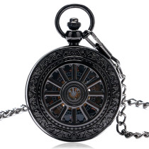 Men's Pocket Watch, Vintage Roman Numerals Dial Skeleton Mechanical Hollow Pocket Watch, Gift for Men