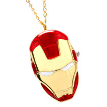 Pocket Watch, Iron Man Necklace Pendant Pocket Watches for Men, Pocket Watch Gift for Boy