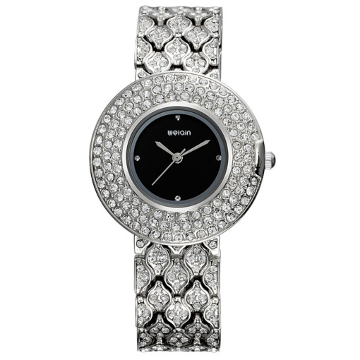 New Rhinestone Watch for Women, Luxury Brand Bracelet Watch for Girl, Crystal Quartz Watch for Teenagers