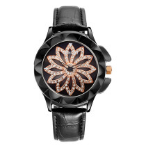 Top Stainless Steel Watch for Women, Black Quartz Glass Wrist Watch, Hot Wristband Gift for Female