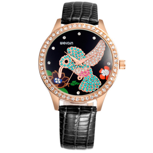 Chinese Style Watch for Women, High-end Diamond Watch for Girl, Trend Female Belt Waterproof Quartz Watch for Teenagers
