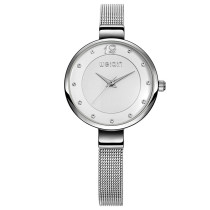 Ultra Fashion Thin Watches for Women, New Gold Stainless Steel Mesh Strap, Fashion Best Gift Quartz Watch for Women