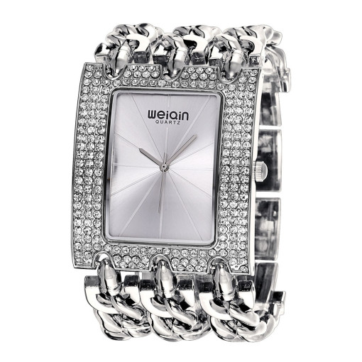 Luxury Brand Crystal Watch for Women, Gold Bracele Watch for Girl, Casual Dress Quartz Watch for Teenagers