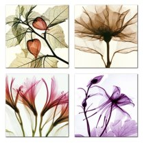 Amosi Art-Canvas Painting Tulip Wall Art Various Rose Oleander Transparent Flowers Painting Landscape Picture Print on Canvas for Living Room Decor Ready to Hang Stretched and Framed