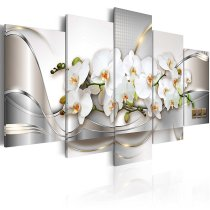 Amosi Art-5 Pieces Butterfly Orchid Flowers Canvas Printings Wall Art  for Home Decoration Picture for Living Room wihth Stretched Framed