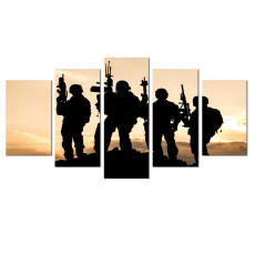 Amosi Art-Modern Canvas Painting American Soldiers Picture Printing On Canvas  For Home Decor