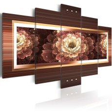 Amosi Art-5 Panels Wall Art Gorgeous and colorful flowers Canvas Printings for home decoration