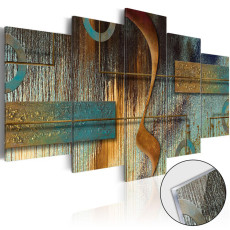 Amosi Art-5 Pieces Abstract Colorful Geometric Art Paintings Decor for Home Decoration with PictureStretched Framed