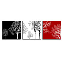 Amosi Art-3 Panels Black and white Tree Picture canvas printings  Modern Landscape for home decor Wall Art