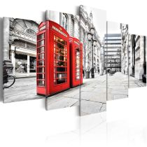 Amosi Art-5 Panels Wall Art Modern London Street View Canvas Painting For Home Living Room Decoration