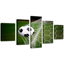 Amosi Art-HD Printed Modern Canvas Living Room Pictures 5 Panel Football Sport Frame Painting Wall Art Modular Poster Home Decoration