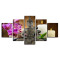 Amosi Art-Canvas HD Prints Pictures Home Decor Framework 5 Pieces Buddha Zen Paintings Moth Orchid Candle Posters For Living Room Wall Art
