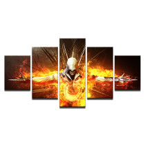 Amosi Art-Canvas Art Print Modern Frames For Paintings Decor 5 Panel Movie Assassins Creed Character Wall Modular Picture Kids Room Poster