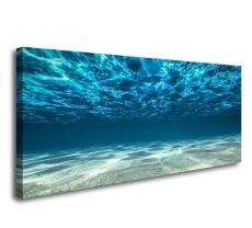 Amosi Art-Artwork Blue Ocean Sea Wall Art Canvas Prints Picture Seaview Bottom View Beneath Surface Pictures Painting On Canvas Modern Seascape Home Office Decor