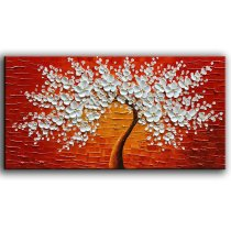 Amosi Art-Hand Paintings Abstract Artwork Landscape Oil Painting Wall Art for Living Room Home Decor