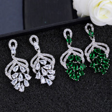 Explosions Fengyang Flower Earrings Luxury Fashion Micro Inlay Multicolor Earrings