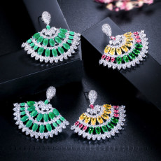 Stylish Refined Luxury Colorful Summer Small Fresh Zircon Earrings