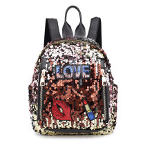 Bag Female 2019 New Sequin Shoulder Bag European and American Girl fashion Wild Backpack Leisure Travel Outdoor Bag